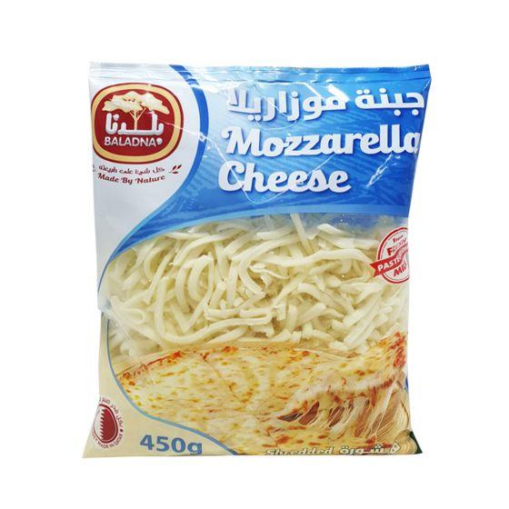 BALADNA MOZZARELLA SHREDDED CHEESE FULL FAT 450GM