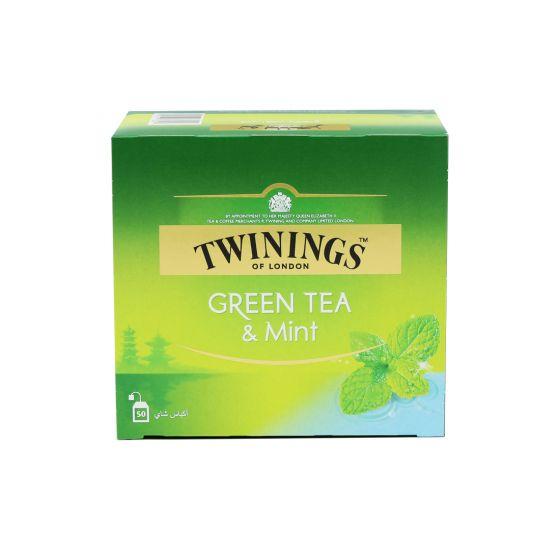 TWININGS GREEN TEA MINT 50S 100GM
